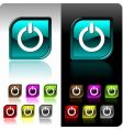 Shiny color button set vector