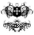 Set of ornamental heraldic shields vector