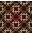 Seamless pattern on maroon background vector
