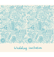 Floral wedding inviation vector