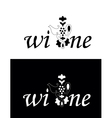 Vine or wine logo vector