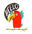 Toucan bird saying hello vector