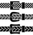 Buckle braided belt black symbols vector