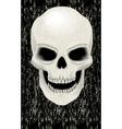 Human skull zombie vector