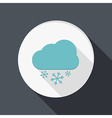 Paper flat icon cloud snow vector