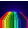 Rainbow colored 3d barcode background vector