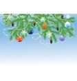 Fir branches with balls vector