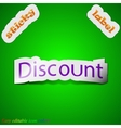 Discount icon sign symbol chic colored sticky vector
