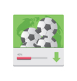 Download with football banner vector