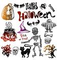 Halloween doodles vector