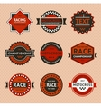 Racing badges - vintage style vector