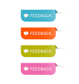 Colorful feedback icons isolated on white vector