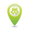 Taxi symbol map pointer green vector