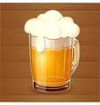 Beer in glass realistic vector