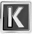 Polka dot font letter k vector