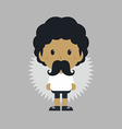 Mustache young man vector
