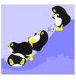 Four penguins vector