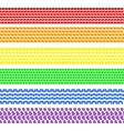 Set of detailed tire prints  a rainbow vector