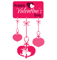 Valentine couple kissing hanging tag vector