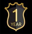 Golden shield 1 year vector
