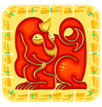 Year of the dragon chinese horoscope animal sign vector