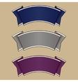 Blue gray and purple ribbon set vector