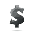 Dollar sign abstract vector