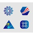 Business logo and icons set vector
