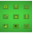 Eco friendly icon set in green design on green vector