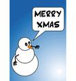 Snowman merry christmas vector
