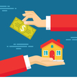 Human hands - real estate concept vector
