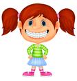 Young children cartoon smiling vector