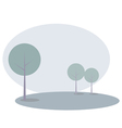 Landscape background with trees - modern in blue vector