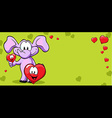 Valentine frame with elephant vector