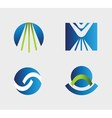 Business logo icons set vector