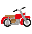 Red motorcycle vector