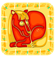 Year of the horse chinese horoscope animal sign vector