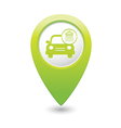 Car wash icon map pointer green vector