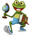 Frog student vector