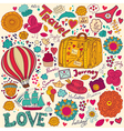Decorative doodle background vector