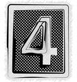 Polka dot font number 4 vector