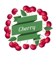 Nature background design with cherries vector