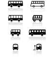 Bus van symbol set vector