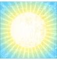 Grunge sun background vector