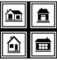 Set house on white backgrounds icon vector