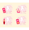 Make-up girl - poster set vector