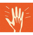 Paper peoples hand vector
