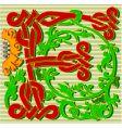 Decorative letter f vector