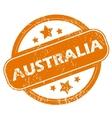Australia grunge icon vector