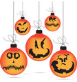 Halloween ghost balls vector